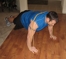 Pushups with Strands for Added Resistance